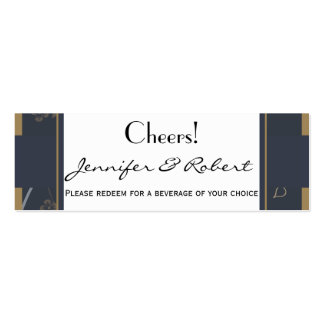 Slate and Gold Natural Wonder Drink Ticket Double-Sided Mini Business Cards (Pack Of 20)