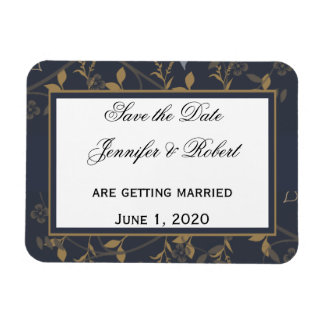 Slate and Gold Natural Wonder Save the Date Magnet