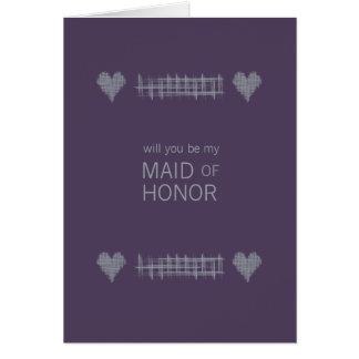 Slate and Indigo Be My Maid of Honor Card