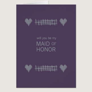 Slate and Indigo Be My Maid of Honor Card