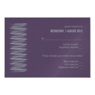 Slate and Indigo RSVP Card