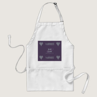 Slate and Indigo Wedding Apron