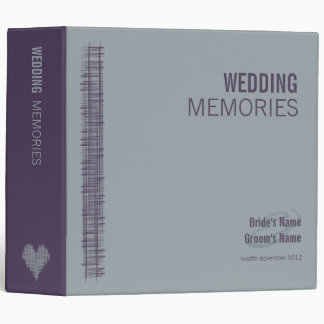 Slate and Indigo Wedding Memories Binder