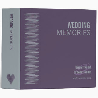 Slate and Indigo Wedding Memories Binder 2