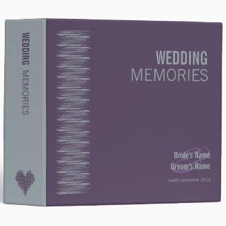 Slate and Indigo Wedding Memories Binder 2