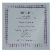 Slate Bachelor Party Invitation