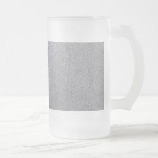 Slate background frosted glass beer mug