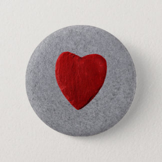 Slate background with heart pinback button