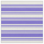 [ Thumbnail: Slate Blue and Beige Colored Lines Pattern Fabric ]