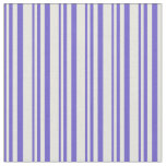 [ Thumbnail: Slate Blue and Beige Striped/Lined Pattern Fabric ]