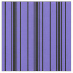 [ Thumbnail: Slate Blue and Black Lines Fabric ]