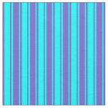 [ Thumbnail: Slate Blue and Cyan Colored Pattern Fabric ]