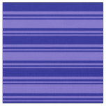 [ Thumbnail: Slate Blue and Dark Blue Stripes/Lines Pattern Fabric ]