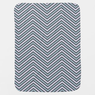 Slate Blue and Lavender Chevron Baby Blanket