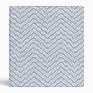 Slate Blue and Lavender Chevron Pattern Binder