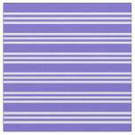 [ Thumbnail: Slate Blue and Lavender Colored Lines Fabric ]