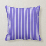 [ Thumbnail: Slate Blue and Lavender Colored Lines Throw Pillow ]