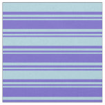 [ Thumbnail: Slate Blue and Light Blue Colored Lines Pattern Fabric ]