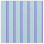 [ Thumbnail: Slate Blue and Light Blue Stripes/Lines Pattern Fabric ]