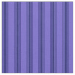 [ Thumbnail: Slate Blue and Midnight Blue Lines Fabric ]