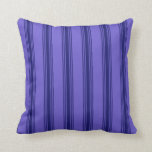 [ Thumbnail: Slate Blue and Midnight Blue Lines Throw Pillow ]