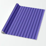 [ Thumbnail: Slate Blue and Midnight Blue Lines Wrapping Paper ]