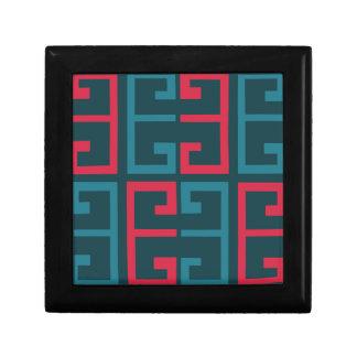 Slate Blue and Pink Tile Keepsake Box