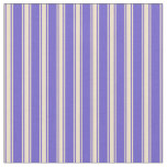 [ Thumbnail: Slate Blue and Tan Striped Pattern Fabric ]
