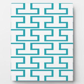 Slate Blue and White Bricks Plaque