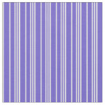 [ Thumbnail: Slate Blue and White Lines Pattern Fabric ]