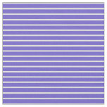 [ Thumbnail: Slate Blue & Beige Colored Striped Pattern Fabric ]