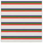 [ Thumbnail: Slate Blue, Black, Green, Red, and Beige Colored Fabric ]