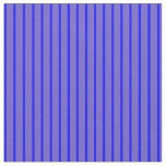 [ Thumbnail: Slate Blue & Blue Colored Pattern of Stripes Fabric ]