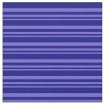 [ Thumbnail: Slate Blue & Blue Pattern of Stripes Fabric ]