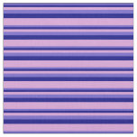 [ Thumbnail: Slate Blue, Blue & Plum Striped/Lined Pattern Fabric ]