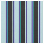 [ Thumbnail: Slate Blue, Blue, Powder Blue, Black & Dark Cyan Fabric ]