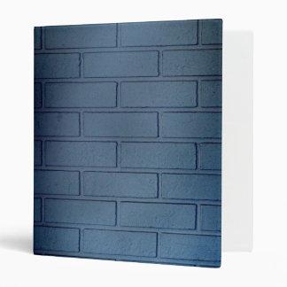 Slate Blue Brick Wall 3 Ring Binder