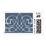 Slate Blue Calligraphy Scroll Postage