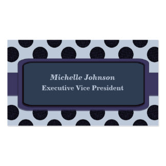 Slate blue Circles Business Card