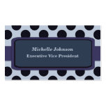 Slate blue Circles Business Card Template