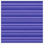 [ Thumbnail: Slate Blue & Dark Blue Colored Stripes Fabric ]