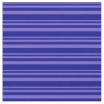 [ Thumbnail: Slate Blue & Dark Blue Stripes/Lines Pattern Fabric ]