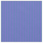 [ Thumbnail: Slate Blue & Dark Cyan Stripes Pattern Fabric ]