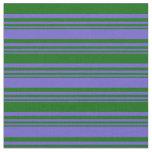 [ Thumbnail: Slate Blue & Dark Green Pattern Fabric ]