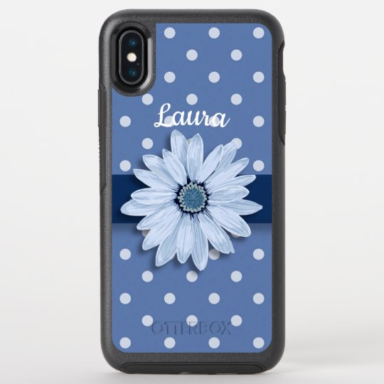 3480c8d076 Slate Blue, Dots and Daisy OtterBox iPhone Case | Zazzle.com