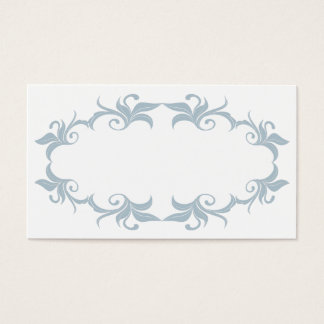 Slate Blue Flourish Wedding Place Cards
