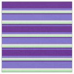 [ Thumbnail: Slate Blue, Indigo, Green, and Light Yellow Lines Fabric ]