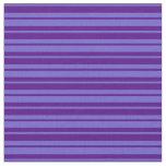 [ Thumbnail: Slate Blue & Indigo Stripes Fabric ]