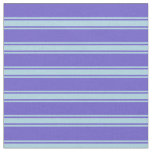 [ Thumbnail: Slate Blue & Light Blue Colored Lines Fabric ]