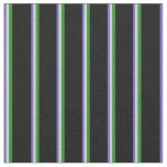 [ Thumbnail: Slate Blue, Light Grey, Forest Green, and Black Fabric ]